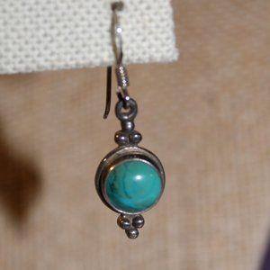 Sterling 925 Genuine Turquoise Earrings